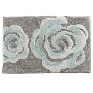 NWT LC Lauren Conrad Blue Floral Bathmat Bath Rug